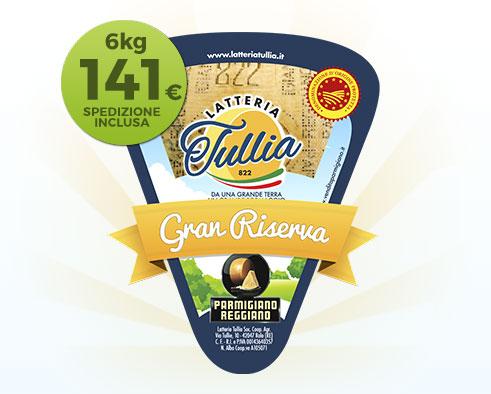 Parmigiano Reggiano Gran Riserva 36 Mesi - Pacco da 6kg in confezioni da circa 1kg
