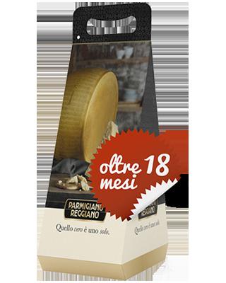 Parmigiano Reggiano Oltre 18 Mesi - 822-FRM02-1002N - Pacco da due confezioni regalo di Parmigiano da circa 1kg l'una